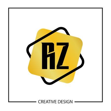 Initial Letter RZ Logo Template Design Vector Illustration Logó