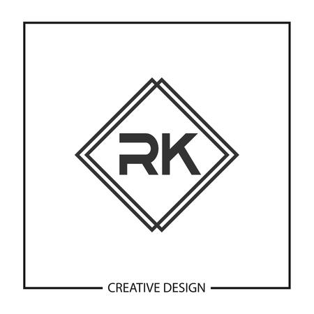 Initial Letter RK Logo Template Design Vector Illustration Logó