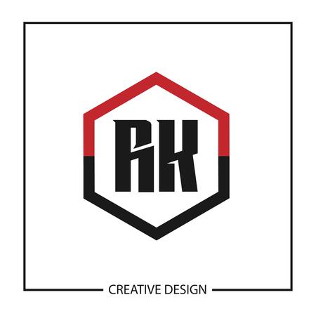 Initial Letter RK Logo Template Design Vector Illustration