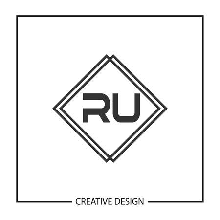 Initial Letter RU Logo Template Design Vector Illustration