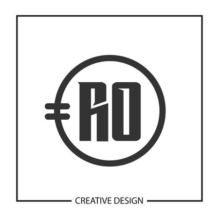 Initial Letter RO Logo Template Design Vector Illustration Ilustração