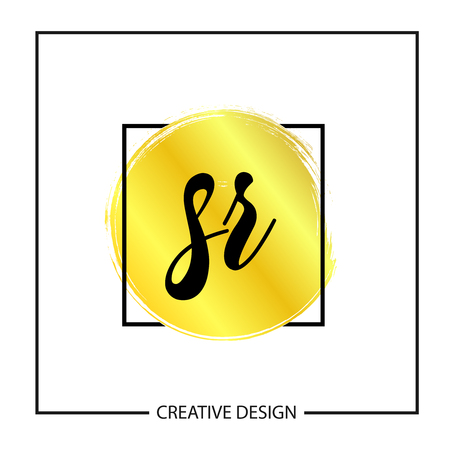 Initial Letter SR Logo Template Design Vector Illustration