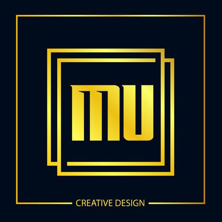 Initial Letter MU Logo Template Design Vector Illustration