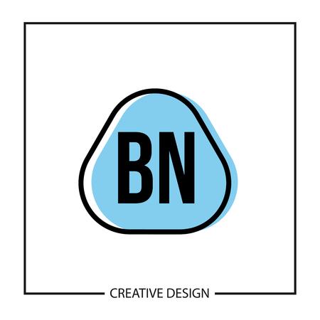 Initial Letter BN Logo Template Design