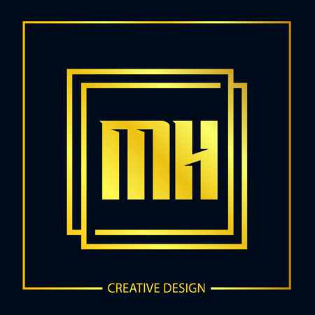 Initial Letter MH Logo Template Design Vector Illustration