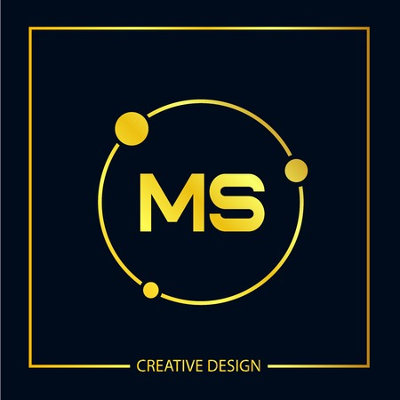 Initial Letter MS Logo Template Design Vector Illustration