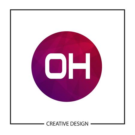 Initial Letter OH Logo Template Design Vector Illustration
