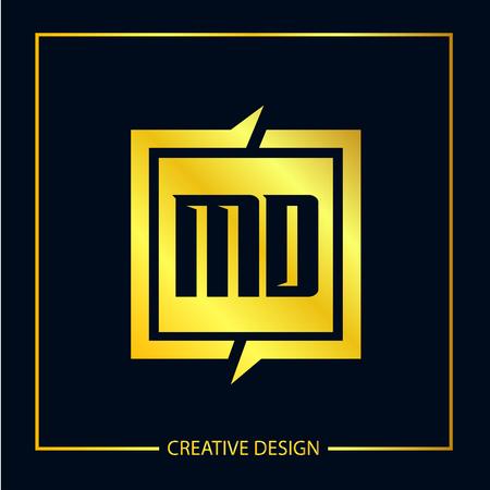 Initial Letter MD Logo Template Design Vector Illustration