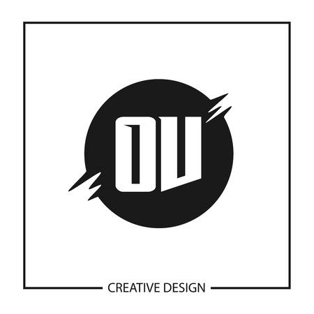Initial Letter OV Logo Template Design Vector Illustration
