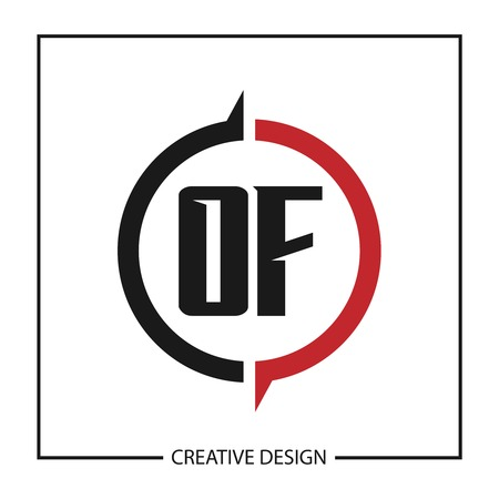 Initial Letter OF Logo Template Design Vector Illustration Logo