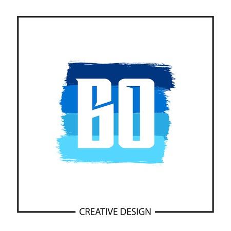 Initial Letter BO Logo Template Design