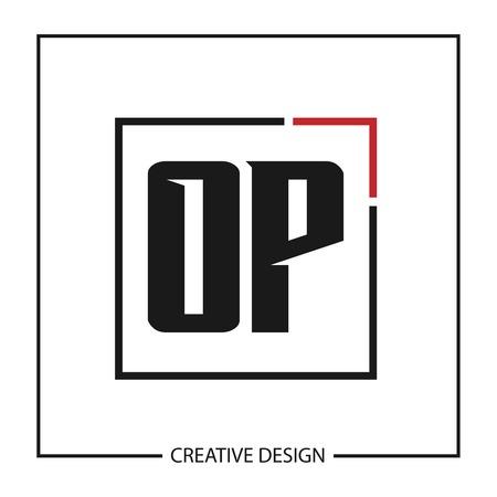 Initial Letter OP Logo Template Design Vector Illustration