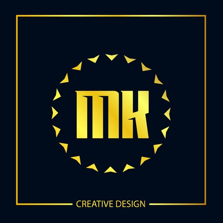 Initial Letter MK Logo Template Design Vector Illustration Illustration