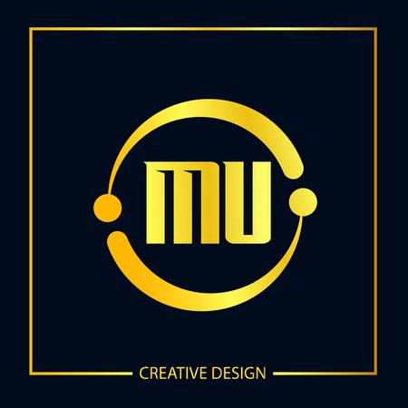 Initial Letter MU Logo Template Design Vector Illustration Logo