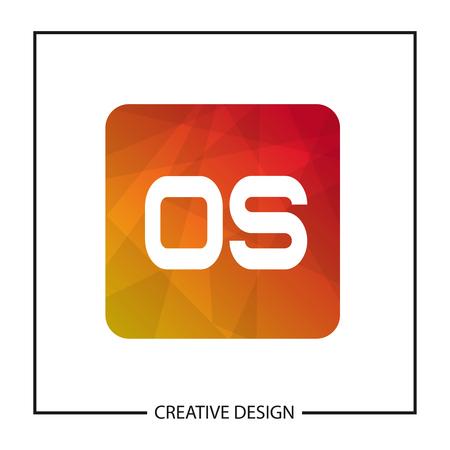 Initial Letter OS Logo Template Design Vector Illustration