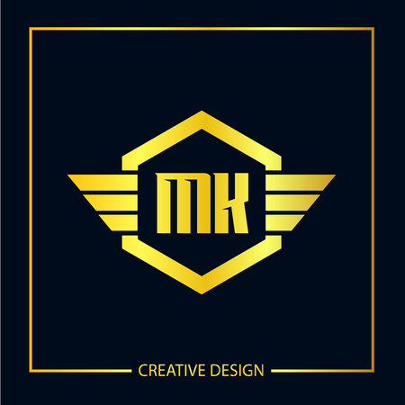 Initial Letter MK Logo Template Design Vector Illustration Logó
