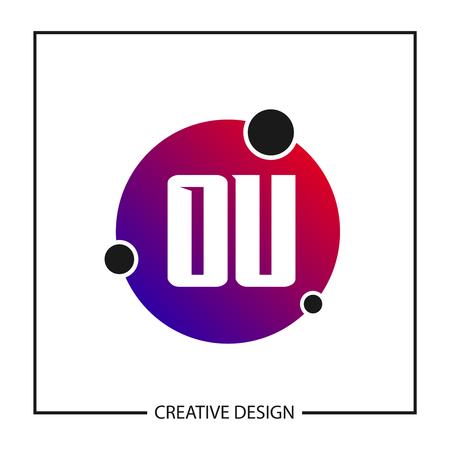 Initial Letter OU Logo Template Design Vector Illustration
