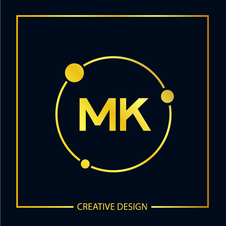 Initial Letter MK Logo Template Design Vector Illustration Illustration