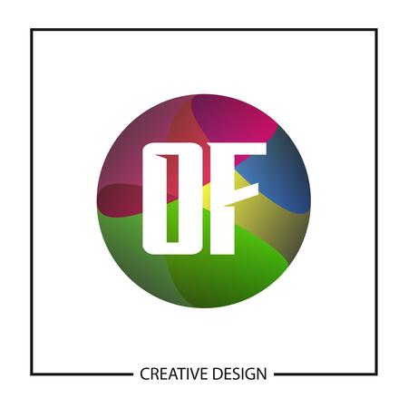 Initial Letter OF Logo Template Design Vector Illustration