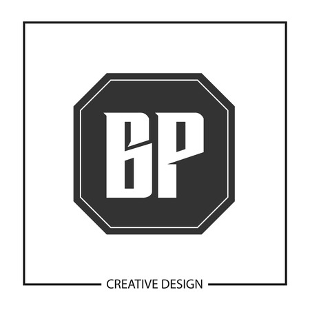 Initial Letter BP Logo Template Design Illustration