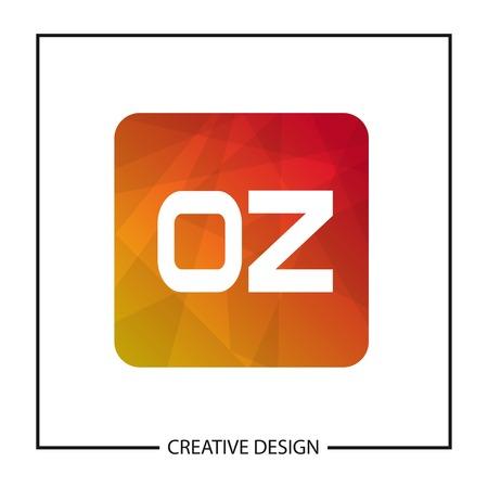Initial Letter OZ Logo Template Design Vector Illustration