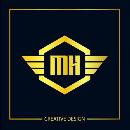 Initial Letter MH Logo Template Design Vector Illustration Logó