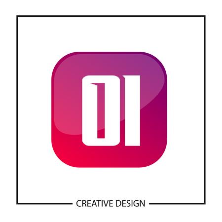 Initial Letter OI Logo Template Design Vector Illustration Banco de Imagens - 113330899