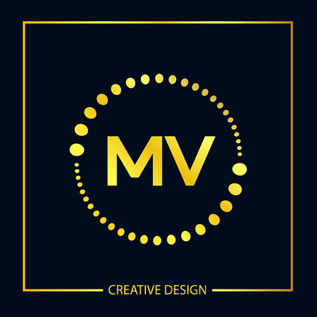 Initial Letter MV Logo Template Design Vector Illustration Logó