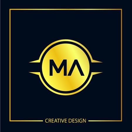 Initial Letter MA Logo Template Design Vector Illustration