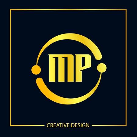 Initial Letter MP Logo Template Design Vector Illustration
