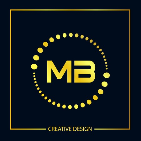 Initial Letter MB Logo Template Design Vector Illustration Çizim