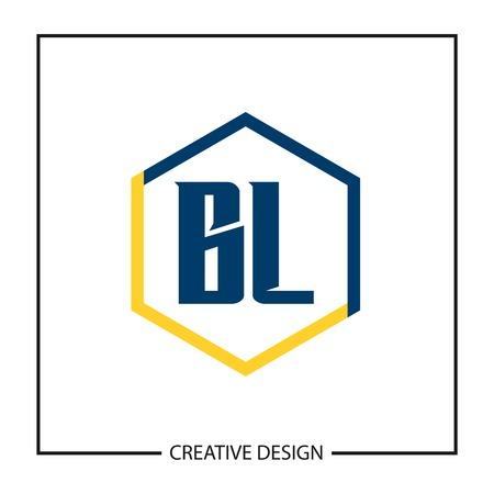 Initial Letter BL Logo Template Design Logó
