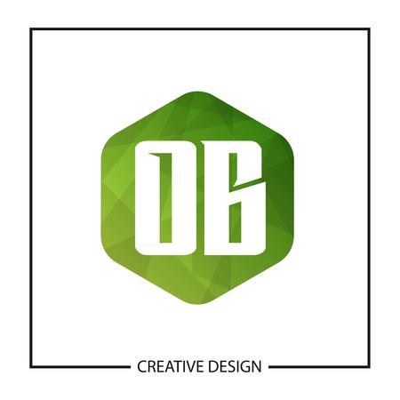 Initial Letter OB Logo Template Design Vector Illustration Çizim