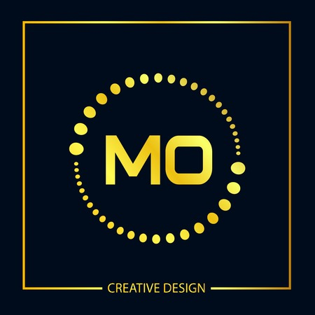 Initial Letter MO Logo Template Design Vector Illustration