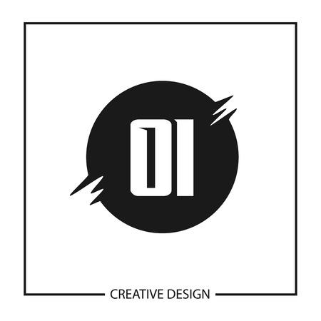 Initial Letter OI Logo Template Design Vector Illustration Ilustração