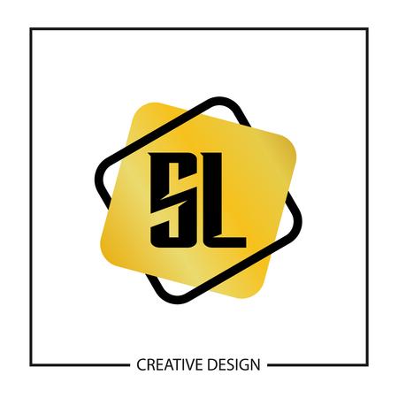 Początkowa litera SL Logo szablon projektu ilustracji wektorowych
