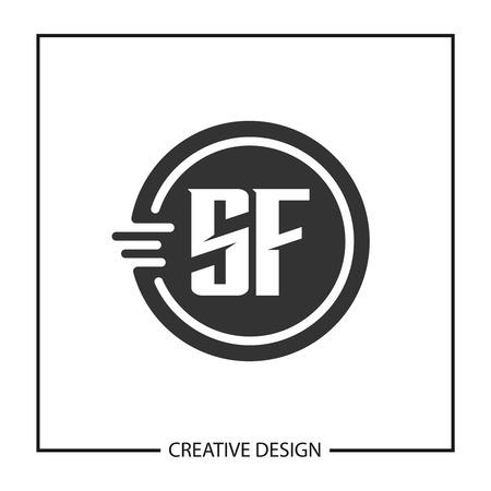 Initial Letter SF Logo Template Design Vector Illustration Banco de Imagens - 113332663