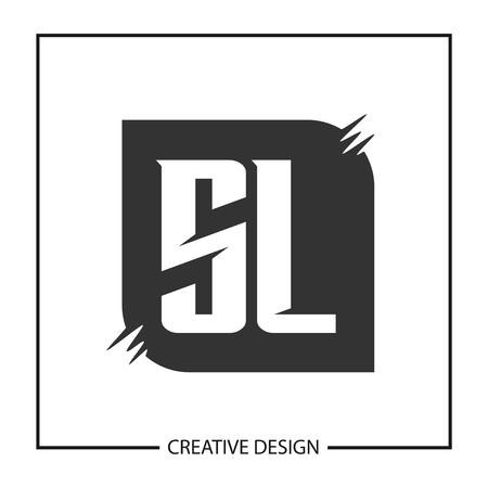 Initial Letter SL Logo Template Design Vector Illustration Logó