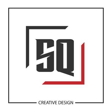 Initial Letter SQ Logo Template Design Vector Illustration Logó