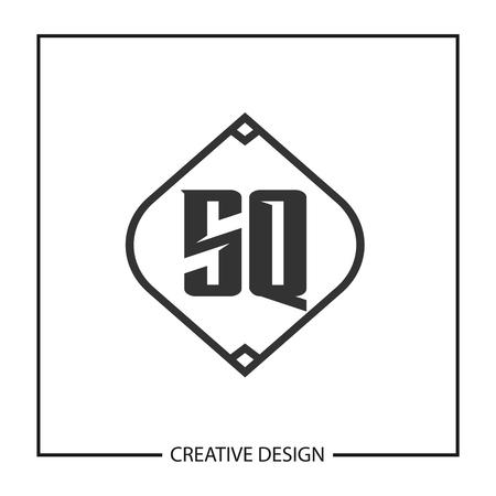 Initial Letter SQ Logo Template Design Vector Illustration