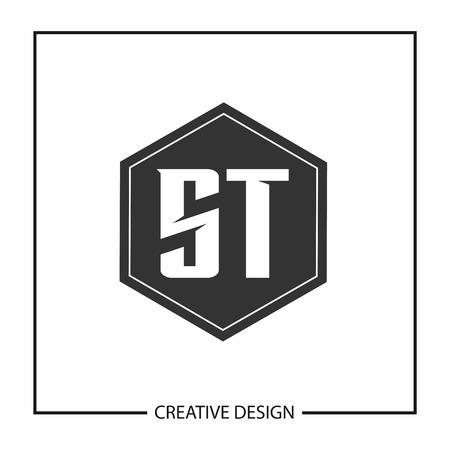Initial Letter ST Logo Template Design Vector Illustration Logó
