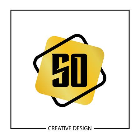 Initial Letter SO Logo Template Design Vector Illustration