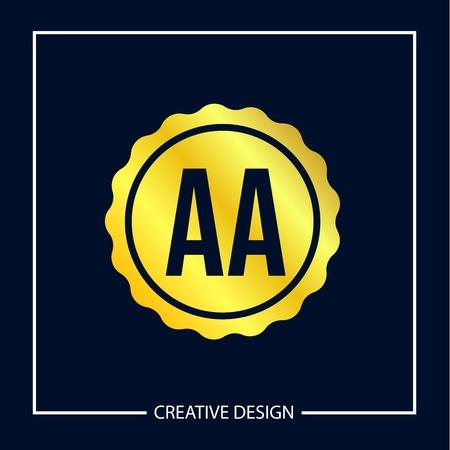 Initial Letter AA Logo Template Design Vector Illustration