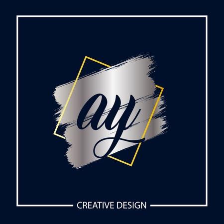 Initial Letter AY Logo Template Design Vector Illustration Stock Vector - 113334210