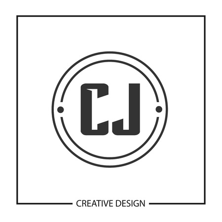 Initial Letter CJ Logo Template Design Vector Illustration