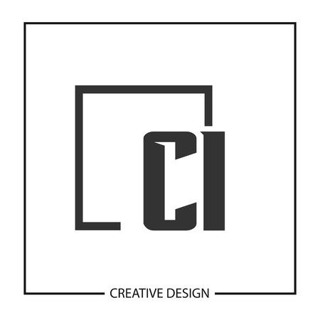 Initial Letter CI Logo Template Design Vector Illustration