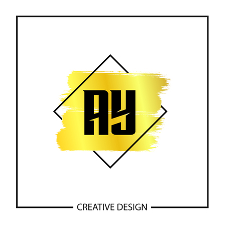 Initial Letter AY Logo Template Design Vector Illustration Illustration