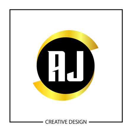 Initial Letter AJ Logo Template Design Vector Illustration