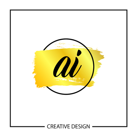Initial Letter AI Logo Template Design Vector Illustration