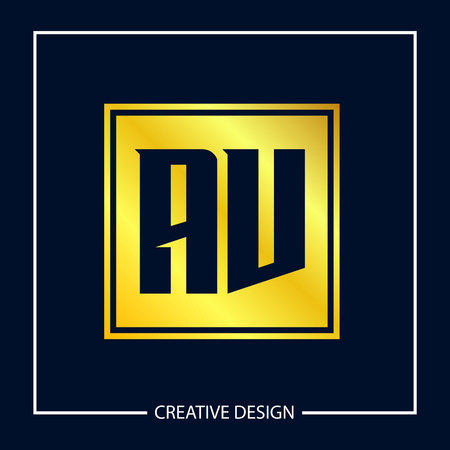 Initial Letter AV Logo Template Design Vector Illustration
